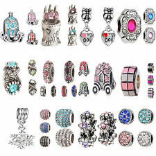 POP Delicate Rhinestone Crystal Beads Pendant Fit For Bracelet Necklace Chain