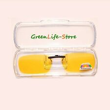 Small Yellow Clip-on over sunglass glasses eyeglass spectacle Polarized  Lens-GF
