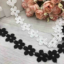 Embroidered Lace Trim Vintage Wedding Dress Ribbon Applique Sewing Craft Fabric