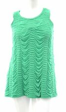 Womens Gorgeous Green Ruched Pleat Top Sleeveless BNWT Ladies