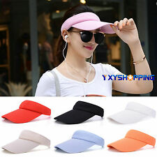 Men Women Unisex Summer Sun Visor Cap Adjustable Outdoor Sports Tennis Golf Hats