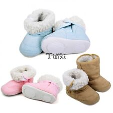 Baby Infant Toddler Boys Girl New Warm Winter Fur Snow Shoes Boots 9-24 TXWD
