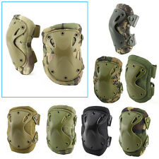 Adjustable Tactical Airsoft Elbow & Knee Protective Pads Knee Pad Skate Combat