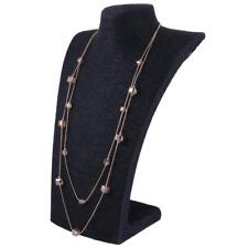 Fashion Ladies Concise 2 Layers Long Sweater Chain Jewelry with Cubic Crystal