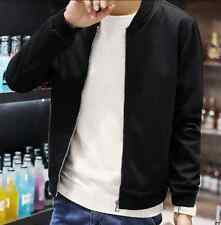 New  Mens Stand Collar Zip Cotton Korea Slim Fit Casual Coat Outwear Jacket