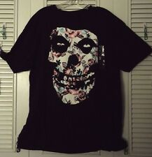 MISFITS FLORAL FIEND LOGO SKULL HORROR PUNK ROCK LICENSED T-SHIRT XL XXL NEW!