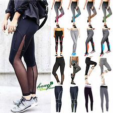 Womens Yoga Fitness Leggings Running Gym Stretched Sports Pants Trousers Bottoms