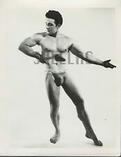 MALE BEEFCAKE PHYSIQUE NUDE ART STUDY PHOTO Vintage 1950s Muscle 4x5