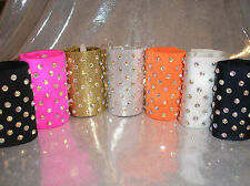 """freestyle disco dance costumes -3"""" or 4"""" high stoned pony tail wraps / cones"""