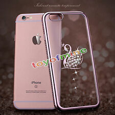 Bling Crystal Diamond Bumper Silicone TPU Soft Case Cover for iPhone 6 6S 7 Plus
