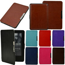 Premium Strap Leather Wake Case For Amazon Kindle 7th Gen 2014 Magnetic Cover