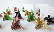 16x Origami Paper Crane Name Place Cards Wedding Party Placecard Favours