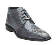 BELVEDERE Mens Boot Napoli Lace Up Classic Gray 100% Crocodile Lizard Shoes 1479