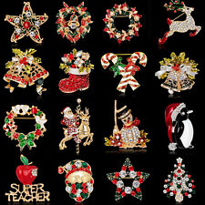 Hybrid Christmas Gifts Brooches Pins Santa Claus X'mas Tree For Family Freinds