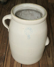 ANTIQUE INDIAN HEAD LOUISVILLE POTTERY LARGE STONEWARE OLD BUTTER MILK #6 CHURN