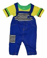 NEW HARAJUKU MINI BY GWEN STEFANI TODDLERS OVERALLS ROMPER W/TEE BLUE & YELLOW