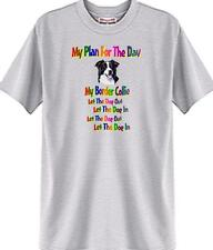 Dog T Shirt My Plan For The Day Border Collie Men Women Adopt Rescue Animal # 4