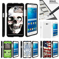For Samsung Galaxy Grand Prime G530 Case Hard Snap On 2 Piece Shell USA Skull