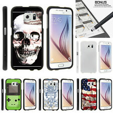 For Samsung Galaxy S6 G920 Case Hard Snap On 2 Piece Slim Shell USA Skull