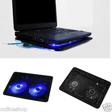 USB 2 Fan Port Cooling Cooler Pad for Laptops Notebook With LED Light Applied