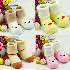 Newborn Lovely Cartoon Baby Girl Boy Anti-slip Socks Shoes slipper Boots 0-36M