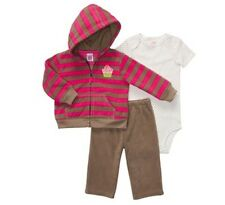 CARTER'S Girls Set Size 6 9 months 3 Piece Jacket Bodysuit Pants Outfit NEW