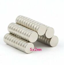 Lots Strong Disc Rare Earth Neodymium Magnets N52 5mm x 2mm Powerful Magnet