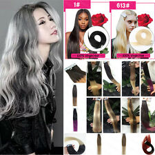 "20pcs Tape In Remy Human Hair Straight Extensions PU skin Ombre 16""18""20""22""24"""