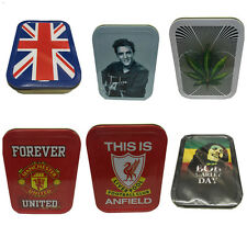 Tobacco Tin Case 2oz Aluminium ABS Smoking Cigarette Tobacco Storage Cool Design