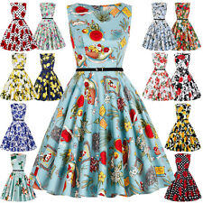 NEW Vintage 1950s Plus Size Floral Dress Evening Party Prom Swing Pinup Dresses