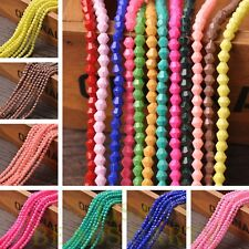 New Wholesale 100~500pcs 4mm Bicone Faceted Lustrous Loose Spacer Glass Beads