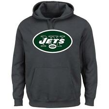 NWT Majestic New York Jets NFL Mens Critical Victory Pullover Hoodie - Gray