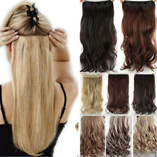 """USA CLEARANCE SALE! 17-27"""" Clip In Hair Extensions half Full Head Real As Human"""