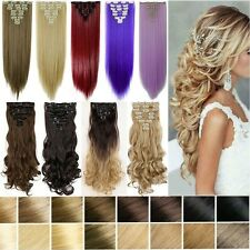 100%Natural As Human Thick Hair Clips In Hair Extensions Full Head Blonde H82
