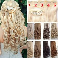 Real Thick 1PC Clip In 3/4 Full Head Clip In Hair Extension As Human Hair H823