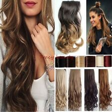New Soft as human Hair Extensions Ombre Full Head Clip in on Hair Extension H827
