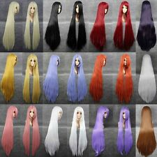 by UPS Longest Trendy Anime Cosplay Full Wig 100% Kanekalon Hair Wig 80-100cm L0