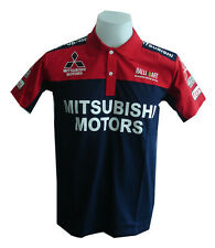 MITSUBISHI RAC MOTORCYCLE SPORT RACING TEAM BLUE MENS POLO T-Shirt Sz M,L,XL