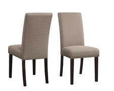 Upholstered Dining Chairs Set 2 PC Kitchen Dinette Room Furniture Modern Comfort