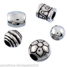 Wholesale Lots Mixed Silver Tone CCB Plastic Spacers Beads Fit Bracelet DIY