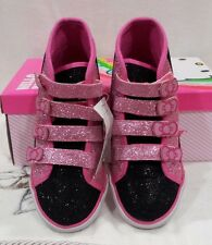 Toddler Girl's Hello Kitty High Top Canvas Black Shoes - Size 5