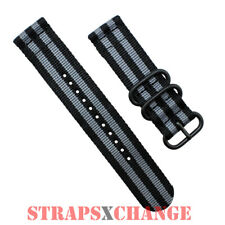 PREMIUM PVD ZULU® 2 Piece GREY BLACK BOND 007 Divers watch strap band Nylon