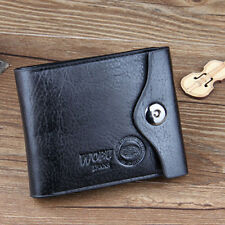 Mens Leather Bifold ID Credit Cards Holder Coin Wallet Pocket Bag Slim Purse New