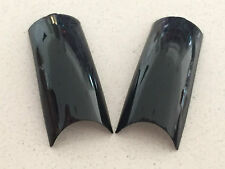 Metallic Black French Fake False Nail Tips Pre Design Acrylic UV Gel Nail Art