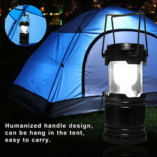 Water Resistant Portable LED Solar Power Lamp Collapsible Camping Lantern Light