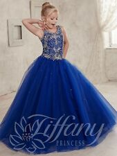 Flower Girl Dress Wedding Bridesmaid Prom BallGown Pageant Party Royal blue 2-14