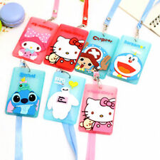 New Hellokitty Bus Card Cover Hanging School Job Id Card Passport Holder LM5a7