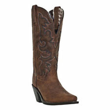 LADIES BROWN LEATHER LAREDO WESTERN BOOTS 51078