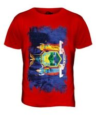 NEW YORK STATE GRUNGE FLAG MENS T-SHIRT TEE TOP NEW YORKER SHIRT JERSEY GIFT