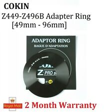 100% New Genuine Cokin Adaptor Z449 - Z496B P' Series Adapter Ring 49mm - 96mm